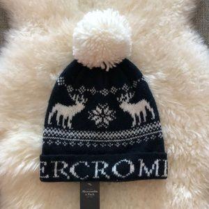 Abercrombie & Fitch knit Pom beanie NWT